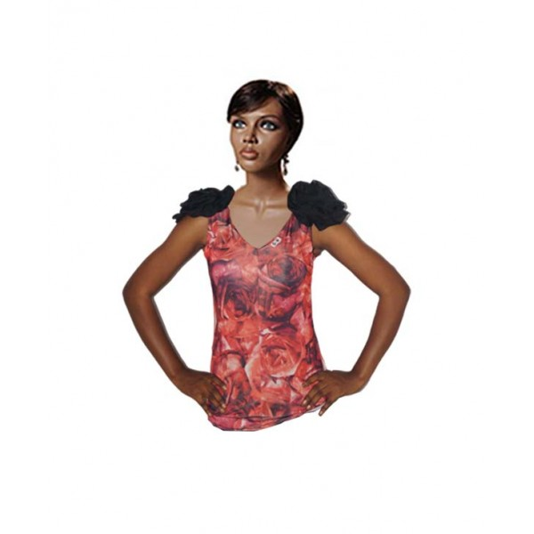 Size L, women floral printed tank top