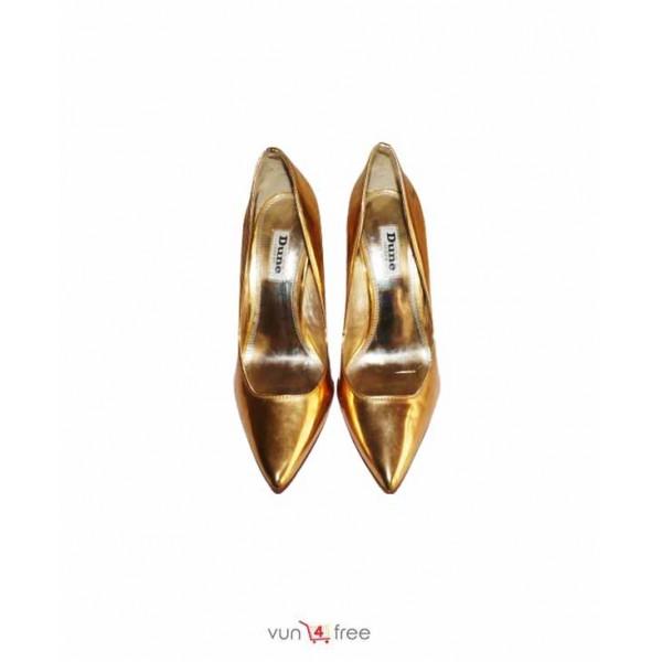 Size 37, Gold High Heels Shoe