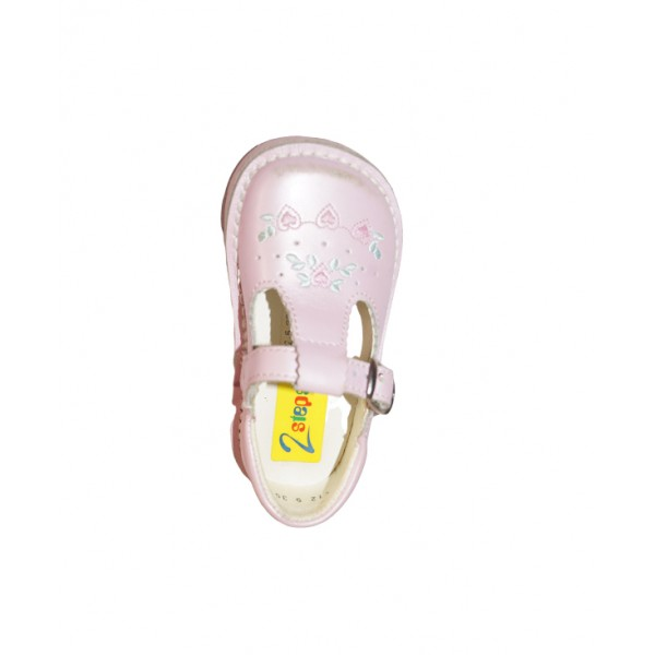 Size 6, kids buckle up leather shoe 2