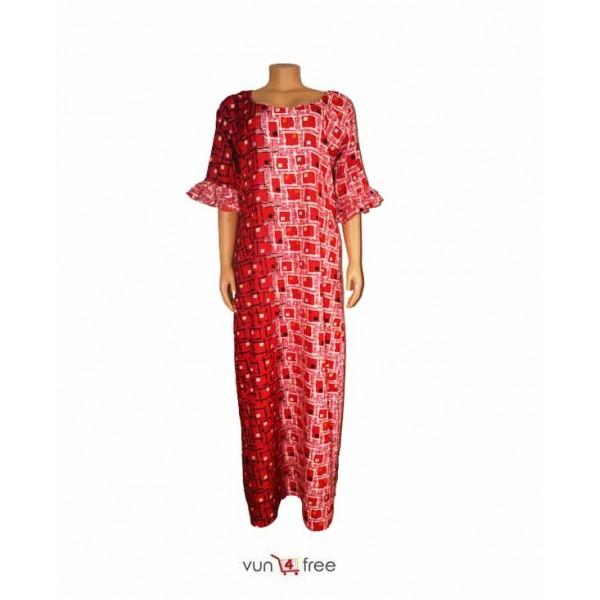 Size XL, Ankara Flay Gown with a Scarf