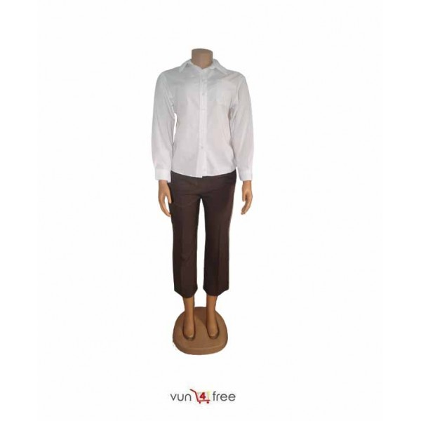 Size L, Long Sleeves Shirt with a Three-Quarter Trouser Pant