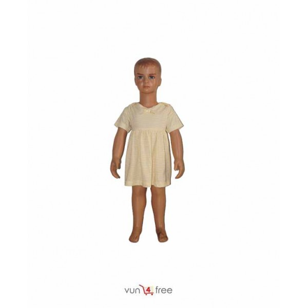 Size 2 - 3, Female Kid Striped Gown