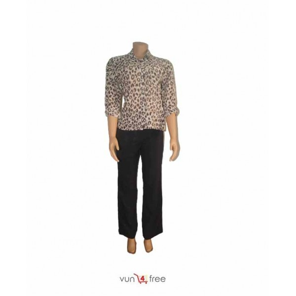 Size L, Animal-print Shirt with a Trouser Pant