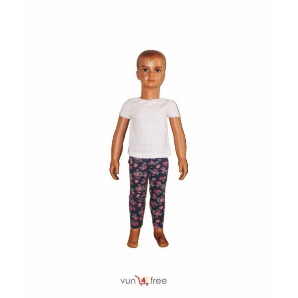 Size 2years, Female Kid Top with a Flowery Leggings