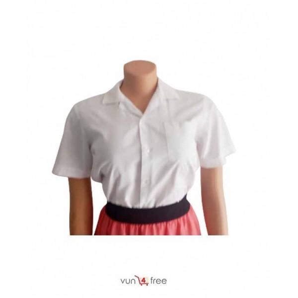 Size L, Short Sleeve Shirt with a Chiffon Skirt