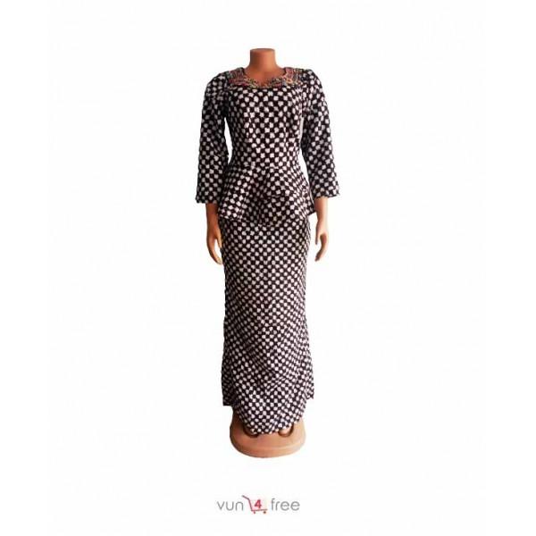 Size L, Ankara Peplum Top with a Skirt