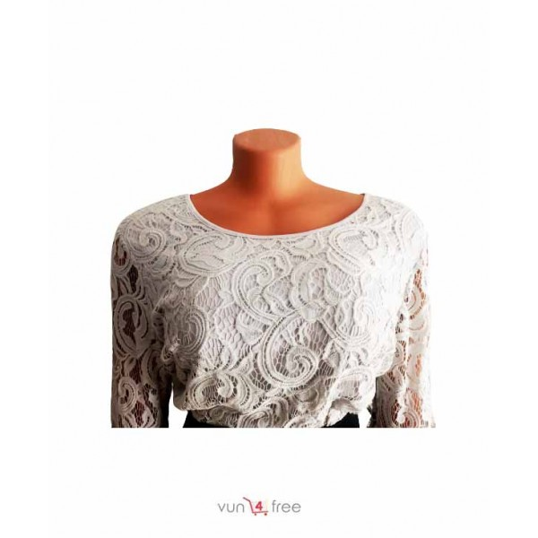 Size L, Lace Top with a Straight Skirt