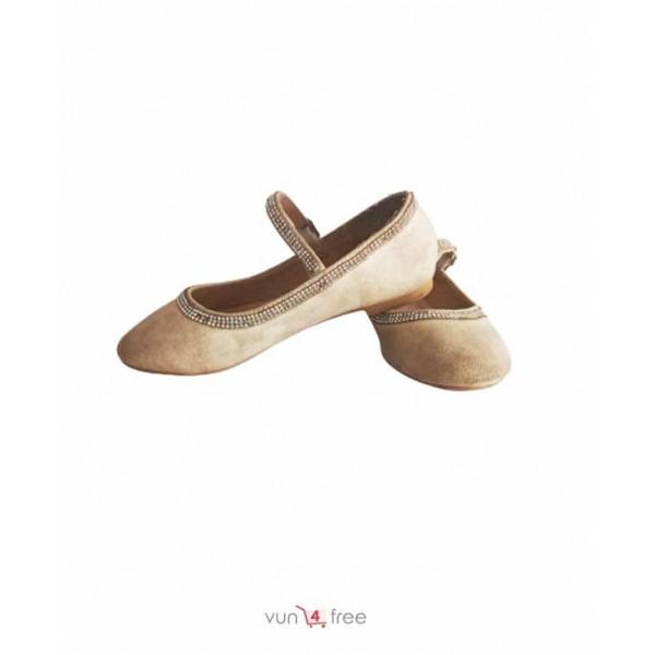Size 31, Shimmering Flat Shoe