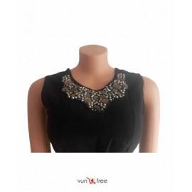 Size M, Sleeveless Ankara-Mixed Gown