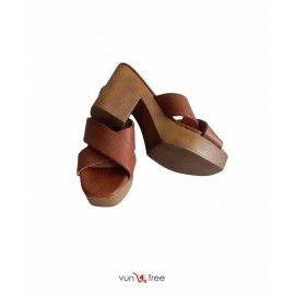 Size 40, Chunky Heel Slippers