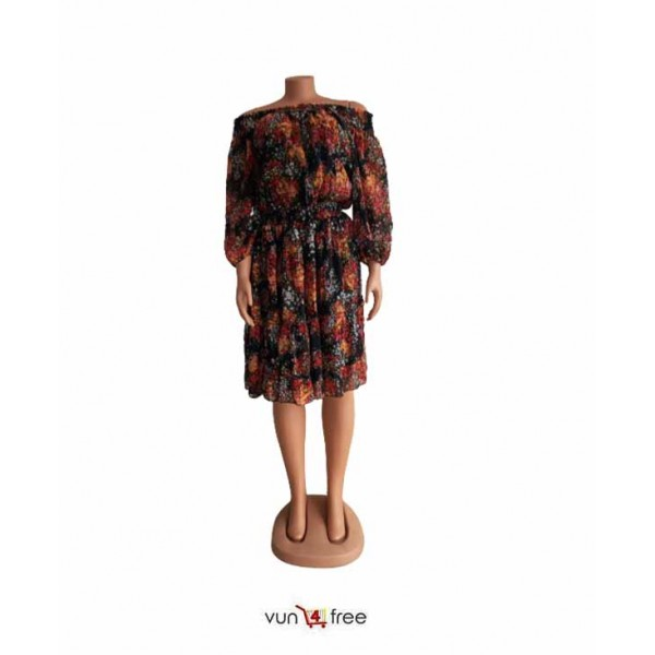 Size L, Chiffon Off-Shoulder Gown