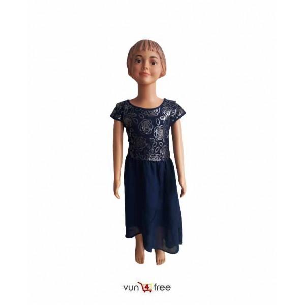 Size 7 - 8, Female Kid Chiffon Flay Gown
