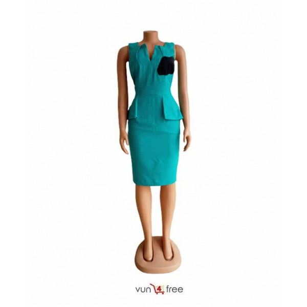 Size L, Sleeveless Office Gown