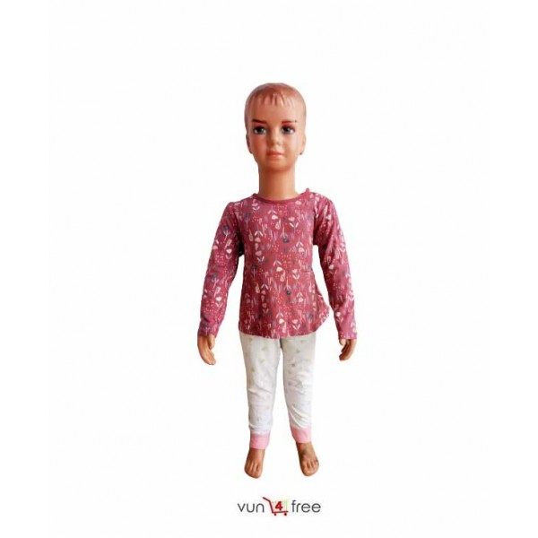 Size 1 - 2years, Female Long Sleeves Top with a Trouser