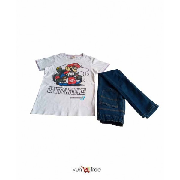 Size 13 - 14years, Male Top with a Jean Trouser