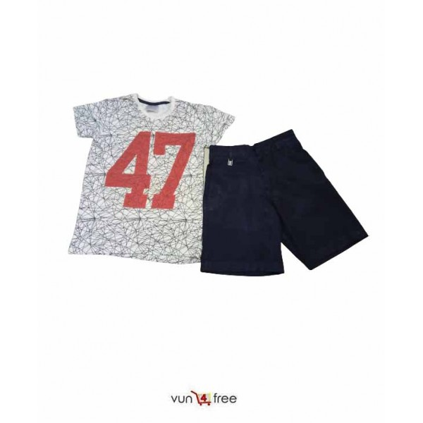 Size 7 - 8years, Short Sleeve Top with a Short