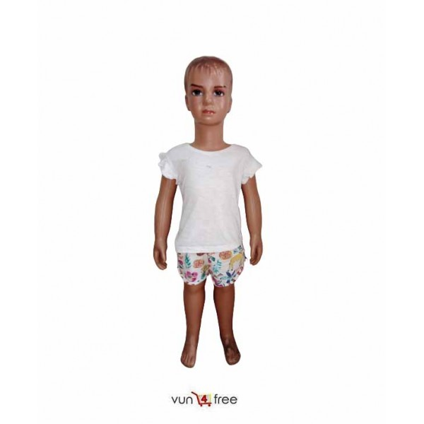 Size 1 - 2years, Female Kid Top with a Short Pant