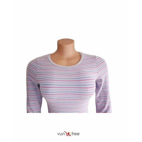 Size M, Striped Top with a Skinny Jean Trouser