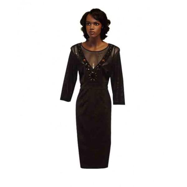 Size 12, Women's Black Gown