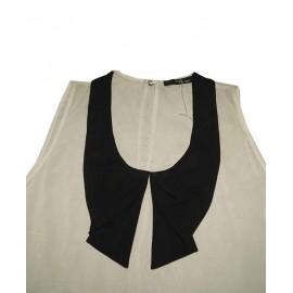 Size L, Sleeveless Collar Top