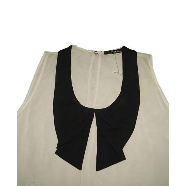 Size L, Sleeveless Collar Top