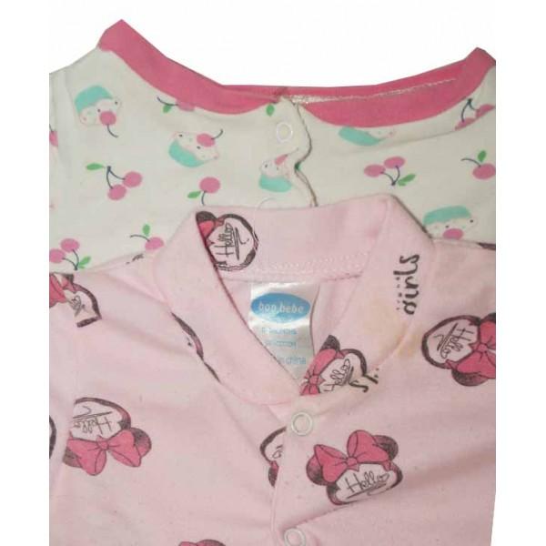 0-3 months, 2Pcs Babies Bodysuit