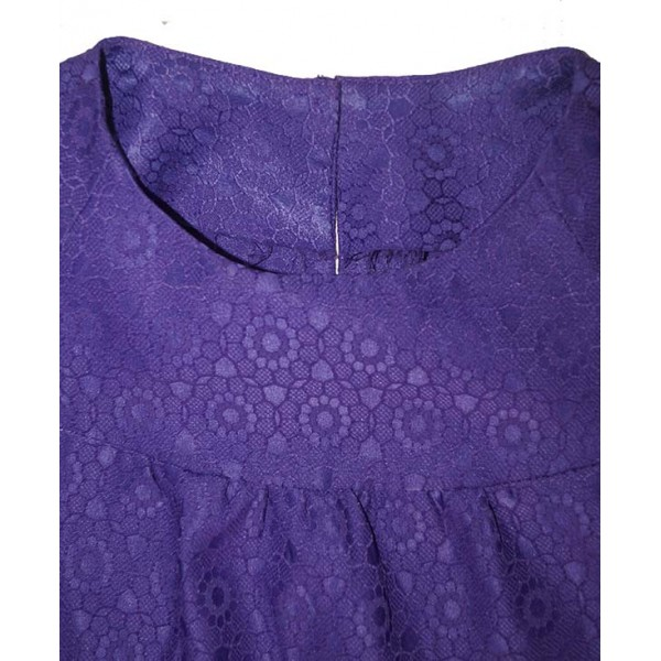 Size M, Purple Ladies Top