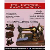 Singer Manual Sewing..