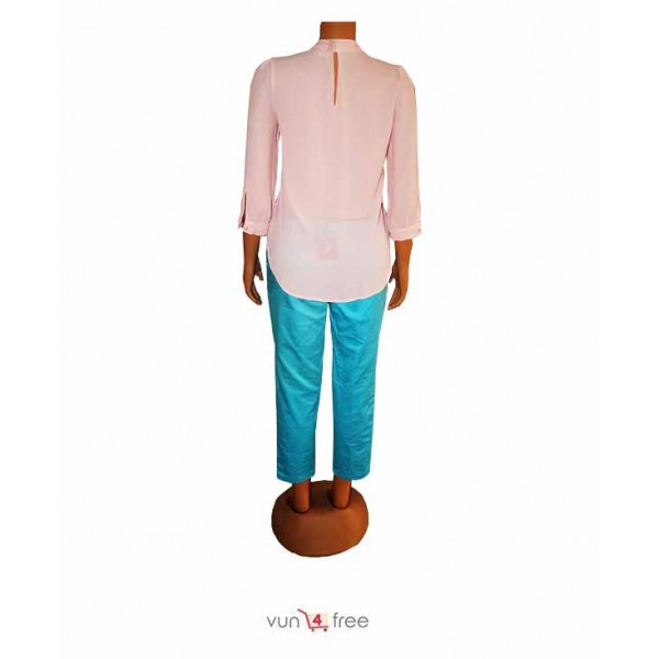 Size XL, Chiffon Top with a Three-Quarter Trouser