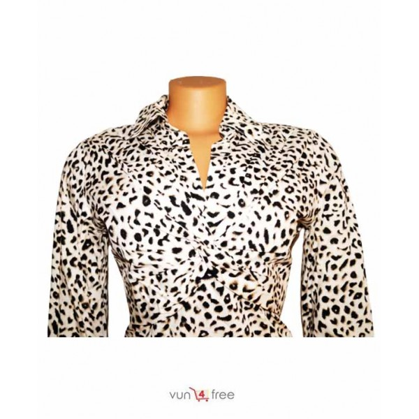 Size L,Animal-print Top with a Skirt