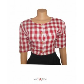 Size XL, Box-stripped Shirt with an Office Skirt