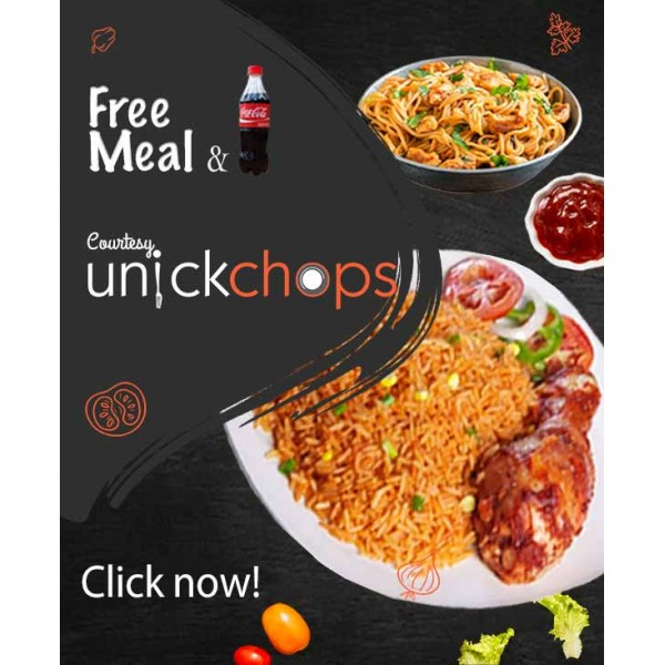 A FREE MEAL & DRINK AT UNICKCHOPS