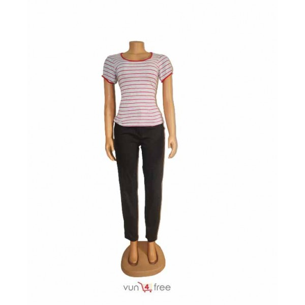 Size M, Striped Top with a Chinos Trouser