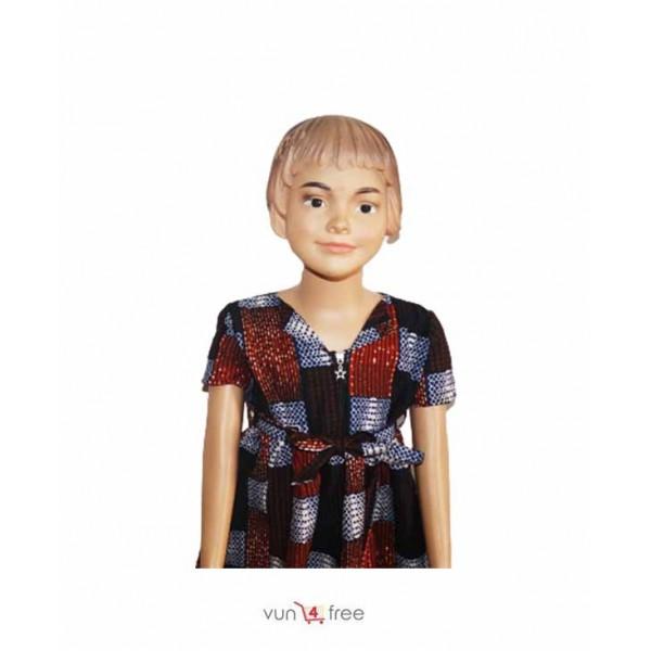 Size 4 - 7years, Ankara Flay Gown