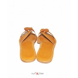 Size 40, Sunny Feet Leather Slippers