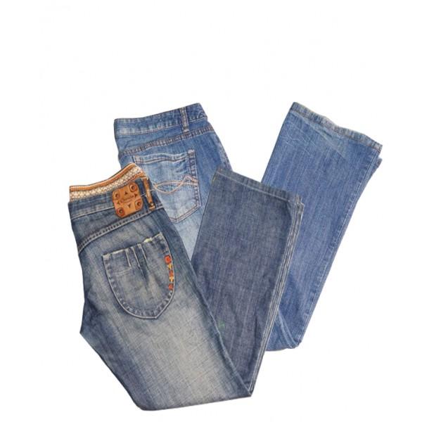 Size XL, 2pcs Women's Jean Trouser