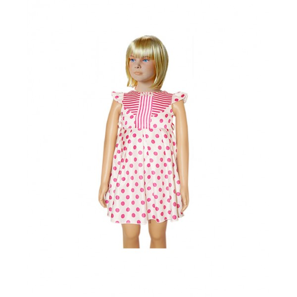 (1-2 Years ) Kid's Polka-dot Dress