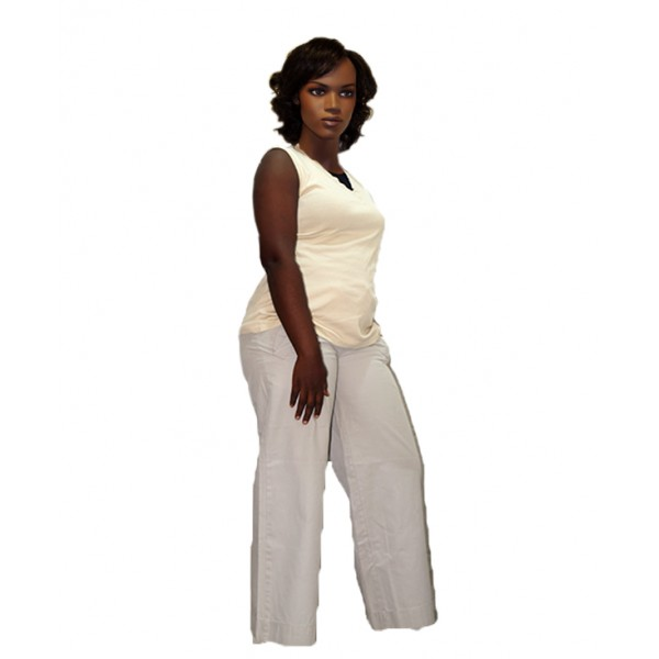Lady's V-Neck Tank Top and Chinos Pant