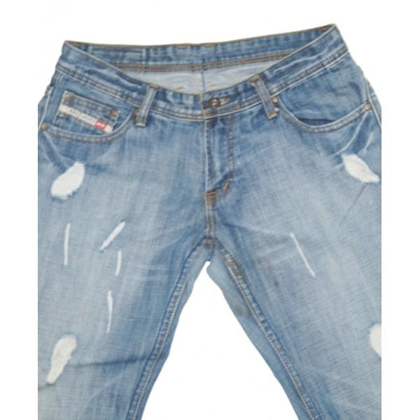 Size 31, Men's shredded Blue Jeans