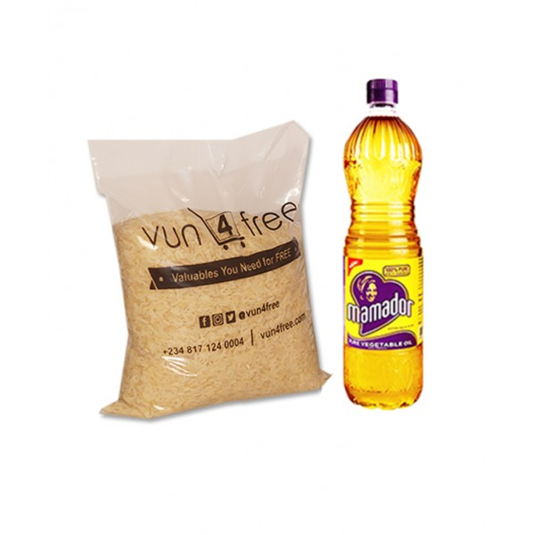 Foodstuff Value Pack Combo (Rice and Cooking Oil)  1pack