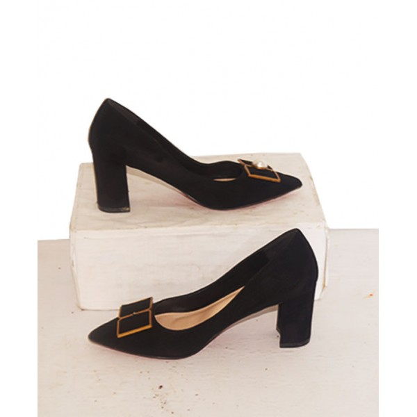 Size 38, Women's  Pointed Toe Block Heels