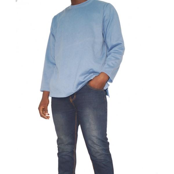 Size XL, Men's Plain Sweat Top with Jeans
