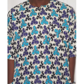 Size XXL, Men's Multi-Color Ankara Outfit