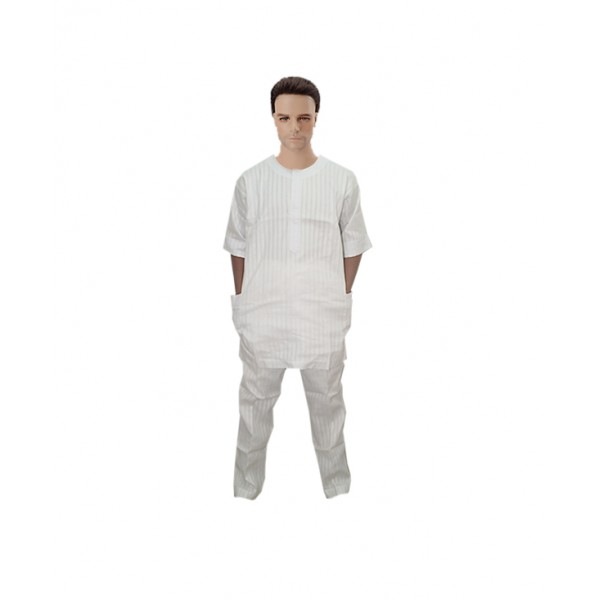 Size XL, Men's White Traditional Outfit