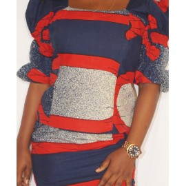 Size XL, Lady's Smart Ankara Gown