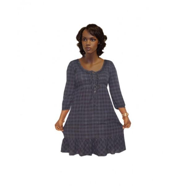 Size L, Lady's Midi Check Dress