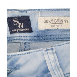 Size XL, Lady's Faded blue jean with Tank top