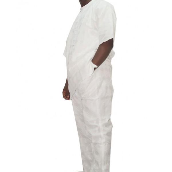 Size XL, Men's Smart White Lace Outfit