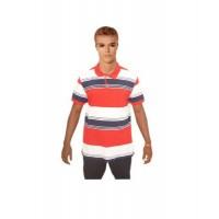 Size L, Multicolored Stripe Men's Polo