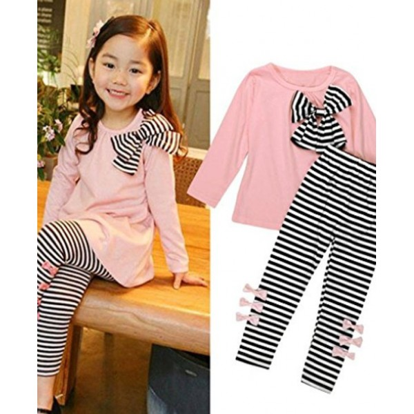 (5-6years) Kids Girls Clothing Bowknot Dress